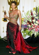HALLE BERRY In an Elie Saab gown at the Academy Awards in 2002.