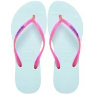 FLIP FLOPS | Havaianas Slim Logo Aqua Flip Flops, $40 from asos.com
