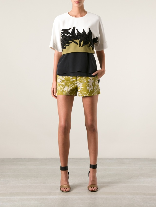 JASON WU cropped colour block top model