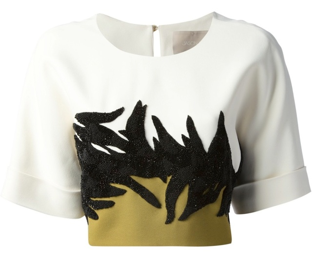 JASON WU cropped colour block top