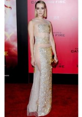 JENA MALONE In a Christian Dior gown at the The Hunger Games- Catching Fire film premiere in Los Angeles in 2013.