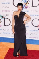 Jennifer Hudson - KAUFMANFRANCO dress; Lorraine Schwartz 18K diamond studs.