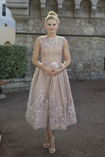 Jennifer Morrison in Georges Hobeika Couture at Monaco Palace.