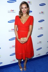 Jessica Alba in a dress from Preen's autumn:winter 2014 collection at the Hope For Children Gala, New York - June 10 2014