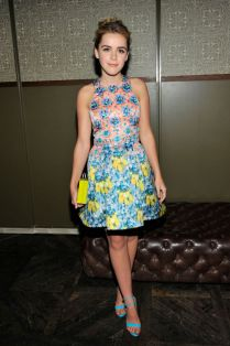 Kiernan Shipka in Mary Katrantzou at an InStyle party.