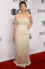 Maggie Gyllenhaal in Dolce & Gabbana arrives at the 2014 Tony Awards Red Carpet.