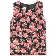 MARNI Printed cotton and silk-blend top