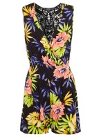MIS SELFRIDGES Tropical Print Sleeveless Playsuit