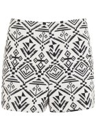 MISS SELFRIDGES Cream Aztec Shorts