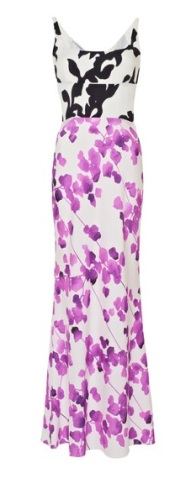 NARCISO RODRIGUEZ Printed Multi Floral Silk Dress