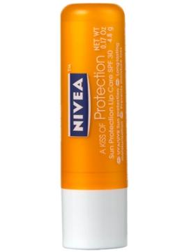 SPF LIP BALM | Nivea A Kiss of Protection Sun Protection Lip Care SPF 30, $3.25 from nivea.com