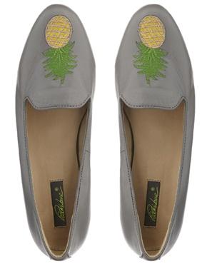Park Lane Pineapple Slipper Shoes via ASOS