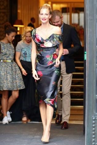 Poppy Delevingne in a Vivienne Westwood dress at Vienna Fashion Night, Vienna - June 12 2014