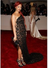 RIHANNA In a Stella McCartney dress at the Costume Institute Gala in 2011.