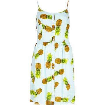 RIVER ISLAND Blue Chelsea Girl Pineapple Print Cami Dress