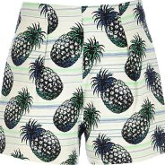 RIVER ISLAND Green Pineapple Print Shorts