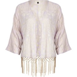 RIVER ISLAND LIGHT PURPLE EMBROIDERED KIMONO