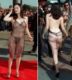 Rose McGowan at the 1998 M.T.V. VIDEO MUSIC AWARDS IN L.A.