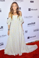 Sarah Jessica Parker in a Schiaparelli Couture gown at the amfAR Inspiration Gala, New York - June 10 2014
