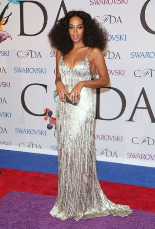Solange in Calvin Klein at the CFDA Awards