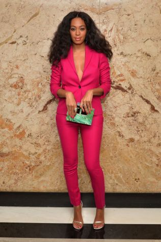 Solange Knowles in Gucci at the Gucci beauty launch event.