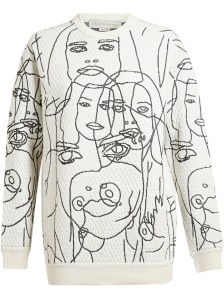 STELLA MCCARTNEY Textured 'Faces' Jumper
