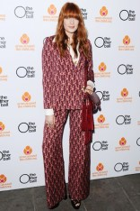 Florence Welch in a Mother of Pearl suit at the The Other Ball, London - June 4 2014