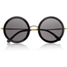 1. ROUND SUNGLASSES | THE ROW Round Sunglasses With Leather Tips, from barneys.com