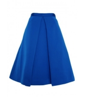 4. FULL SKIRT MIDI | TIBI Katia Faille Full Skirt in Electric, from tibi.com