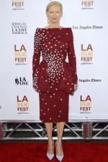 Tilda Swinton in a Schiaparelli Couture dress at the Los Angeles Film Festival opening, LA - June 11 2014