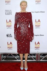 Tilda Swinton in a Schiaparelli Couture dress at the Los Angeles Film Festival opening, LA - June 11 2014