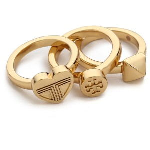 Tory Burch Adeline Stackable Rings - Shiny Gold