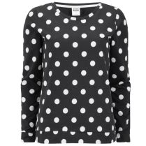 VERO MODA DORIS POLKA DOT TOP - BLACK