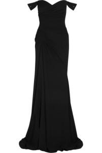 VERSACE Embellished silk-chiffon gown