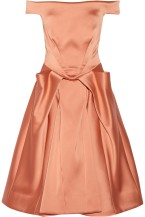 ZAC POSEN Off-the-shoulder satin dress